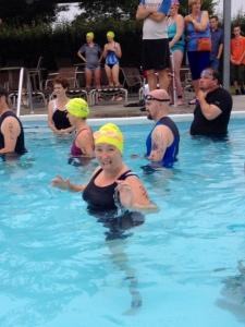 Before the swim start