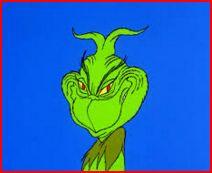Grinch's evil smile