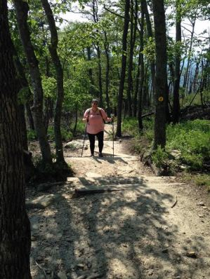 Melissa hiking May 2017